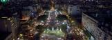 Vista parcial de la Plaza de los Dos Congresos desde la cupula del Palacio Legislativo durante la convocatoria #NiUnaMenos, contra el femicidio y la violencia de genero, en Buenos Aires, el 3 de junio de 2015. (Oscar BARRAZA / PRENSA SENADO)